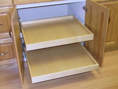 Natural Maple Melamine Pullout Box ...