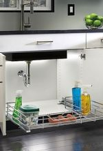 Chrome Under Sink Storage