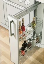 Metal Slim Pantry W/ 2 Baskets for 6