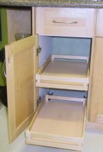 Natural Maple Melamine Pullout Shelves