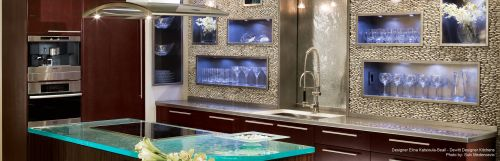 Modern clean lined kitchen cabinetry